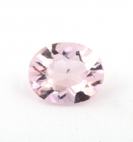 Бледно-розовый берилл морганит формы овал, вес 0.58 карат, размер 6.6х5.5мм (beryl0192)