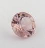 Бледно-розовый берилл морганит формы круг, вес 0.95 карат, размер 6.9х6.8мм (beryl0195)
