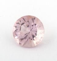 Бледно-розовый берилл морганит формы круг, вес 0.85 карат, размер 6.5х6.5мм (beryl0196)