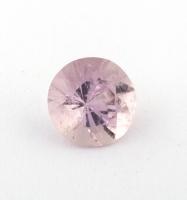 Бледно-розовый берилл морганит формы круг, вес 0.5 карат, размер 5.7х5.6мм (beryl0198)
