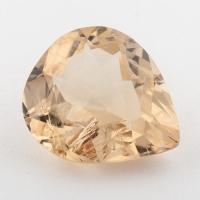 Золотистый берилл гелиодор формы груша, вес 9.45 карат, размер 16.8х14.3мм (beryl0201)