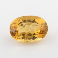 Ярко-желтый берилл гелиодор формы овал, вес 4.07 карат, размер 12.2х8.5мм (beryl0206)