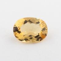 Ярко-желтый берилл гелиодор формы овал, вес 2.06 карат, размер 10.5х7.6мм (beryl0207)