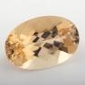 Золотистый берилл гелиодор формы овал, вес 19.7 карат, размер 22.7х15.2мм (beryl0224)