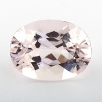 Розовый берилл морганит формы овал, вес 8.6 карат, размер 16.1х12.1мм (beryl0229)