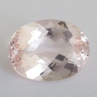 Розовый берилл морганит формы овал, вес 18.4 карат, размер 20.8х15.9мм (beryl0238)