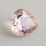 Персиково-розовый берилл морганит формы сердце, вес 3.53 карат, размер 10.2х10.1мм (beryl0258)