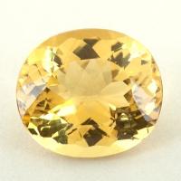 Лимонно-жёлтый берилл гелиодор формы овал, вес 6.77 карат, размер 14х9.6мм (beryl0263)