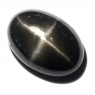 Звёздчатый диопсид (black star) кабошон овал вес 12.49 карат, размер 17.9х12.5мм (black0011)