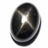 Звёздчатый диопсид (black star) кабошон овал вес 16.31 карат, размер 17.4х12.4мм (black0012)