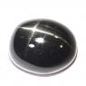 Звёздчатый диопсид (black star) овал вес 10.26 карат, размер 14.1х12мм (black0019)