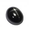 Звёздчатый диопсид (black star) овал вес 4.9 карат, размер 12х9.6мм (black0023)