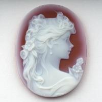 Камея на сардониксе, размер 40х30мм (cameo0063)