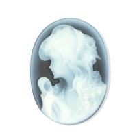 Камея на агате, размер 25x18мм (cameo0066)