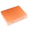 Кейс для камней с 24 коробочками 5х5см (розовый цвет)