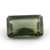Желтовато-зеленый диопсид октагон вес 1.88 карат, размер 9.5х6мм (chrom0062)