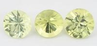 Комплект хризобериллов формы круг, общий вес 3.11 карат, размеры 6.3х6.3 и 6х6мм (chrysob0066)