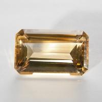 Цитрин октагон вес 33.6 карат, размер 25х16мм (citrin0003)