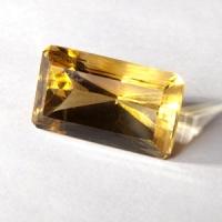 Цитрин октагон вес 41.5 карат, размер 27.2х15.8мм (citrin0018)