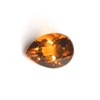 Ярко-жёлтый цитрин империал груша вес 0.67 карат, размер 7х5.1мм (citrin0105)