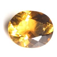 Ярко-жёлтый цитрин империал овал вес 3.25 карат, размер 11.3х9.3мм (citrin0109)