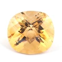 Оранжево-желтый цитрин антик, вес 12.68 карат, размер 15.6х14.5мм (citrin0125)