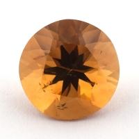 Оранжево-желтый цитрин круг, вес 3.11 карат, размер 9.7х9.6мм (citrin0127)