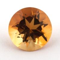Оранжево-желтый цитрин круг, вес 2.83 карат, размер 9.8х9.8мм (citrin0128)