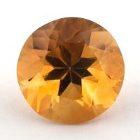 Оранжево-желтый цитрин круг, вес 3.91 карат, размер 10.3х10.2мм (citrin0129)