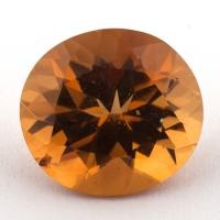 Оранжево-желтый цитрин овал, вес 3.84 карат, размер 11.15х10.2мм (citrin0130)