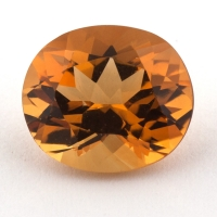 Оранжево-желтый цитрин овал, вес 3.36 карат, размер 10.7х9.3мм (citrin0131)