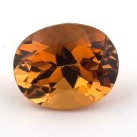 Оранжево-желтый цитрин овал, вес 3.05 карат, размер 10.5х8.6мм (citrin0132)