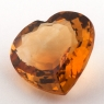 Оранжево-желтый цитрин сердце, вес 10.74 карат, размер 16.1х16мм (citrin0134)