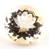 Бледно-желтый цитрин круг, вес 11.01 карат, размер 15.1х14.9мм (citrin0137)