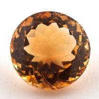 Оранжево-желтый цитрин круг, вес 12.65 карат, размер 15.1х15мм (citrin0138)