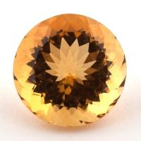 Оранжево-желтый цитрин круг, вес 11.2 карат, размер 15.1х15.1мм (citrin0139)
