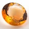 Оранжево-желтый цитрин круг, вес 12.49 карат, размер 17х16.8мм (citrin0142)