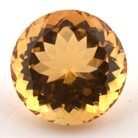 Оранжево-желтый цитрин круг, вес 14.28 карат, размер 15.9х15.8мм (citrin0143)