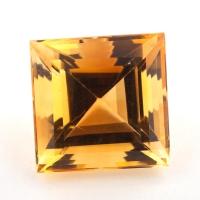 Цитрин формы квадрат, вес 14.05 карат, размер 14х14мм (citrin0147)