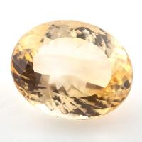 Бледно-желтый цитрин формы овал, вес 18.87 карат, размер 19.3х15.6мм (citrin0155)