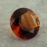 Темно-оранжевый цитрин отличной российской огранки формы круг, вес 2.14 карат, размер 9х9мм (citrin0166)
