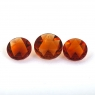 Комплект темно-оранжевых цитринов отличной российской огранки формы круг, общий вес 3.83 карат, размеры 8.6х8.6 и 7.3х7.3мм (citrine0178)