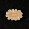 "Резьба на коралле ""Цветок"" весом 5.42 карат, размер 16.8х12мм (coral0006)"