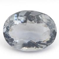 Синевато-серый кордиерит овал вес 10.2 карат, размер 17х13.1мм (cord0042)