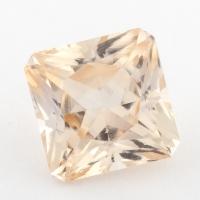 Золотистый данбурит формы квадрат, вес 1.86 карат, размер 7.1х7.1мм (danburit0030)