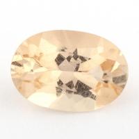 Золотистый данбурит формы овал, вес 1.26 карат, размер 8.9х6.2мм (danburit0035)