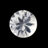 Бесцветный данбурит формы круг, вес 1.1 карат, размер 7.1х7.1мм (danburit0045)