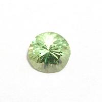 Демантоид (гранат) круг вес 0.37 карат, размер 4х4мм (dem0004)