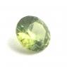 Желтовато-зелёный уральский демантоид круг, вес 0.48 карат, размер 4.75х4.75мм (dem0033)