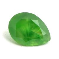 Ярко-зелёный уральский демантоид груша, вес 0.6 карат, размер 6.4х4.7мм (dem0035)